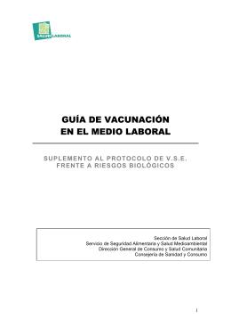 GUÍA DE VACUNACIÓN EN EL MEDIO LABORAL