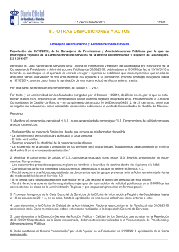 iii.- otras disposiciones y actos - Gobierno de Castilla
