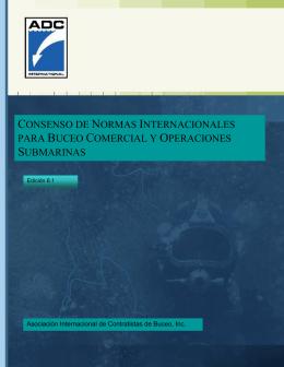 consenso de normas internacionales para buceo comercial y