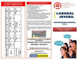 brochure laboral - Canadian International School Panama