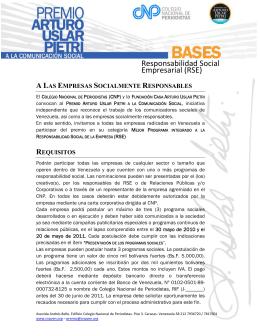 RSE - Colegio Nacional de Periodistas