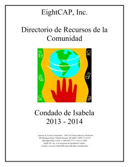 EightCAP, Inc. Directorio de Recursos de la Comunidad Condado