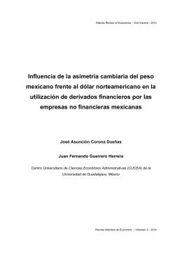 Influencia de la asimetría cambiaria del peso mexicano frente al