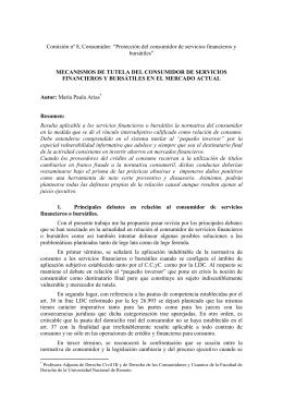 """Comisión nº 8, Consumidor: """"Protección del consumidor de"""