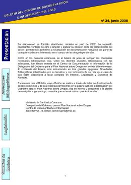 Boletín del Centro de documentación e información del PNSD