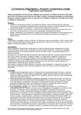 [1] Honduras (Tegucigalpa) | Proyecto: Compartimos