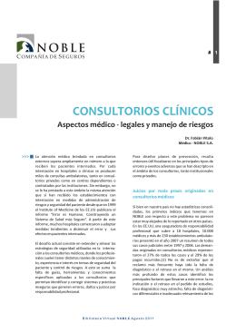 Consultorios Clínicos. Aspectos Médico