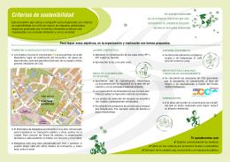 Criterios de sostenibilidad del evento