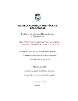 introduccion - DSpace en ESPOL - Escuela Superior Politécnica del