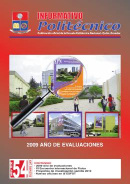 Informativo Politécnico -No 54 - Repositorio Digital EPN
