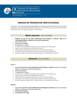 Descargar Opciones de Sponsoreo - Instituto Argentino del Petroleo