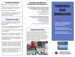 conozca sus derechos - ACLU of San Diego & Imperial Counties