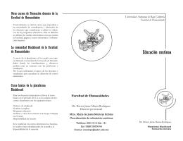 Más información - Facultad de Humanidades y Ciencias Sociales