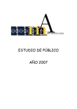 Estudio de Público del Museo Nacional de Antropología 2007