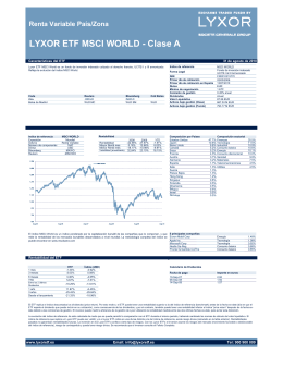 LYXOR ETF MSCI WORLD - Clase A