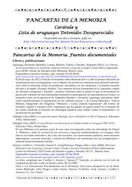 Pancartas de la Memoria. Fuentes