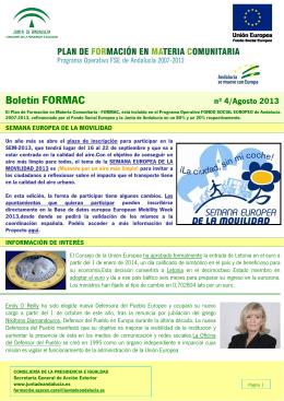Boletín FORMAC Nº 4/2013