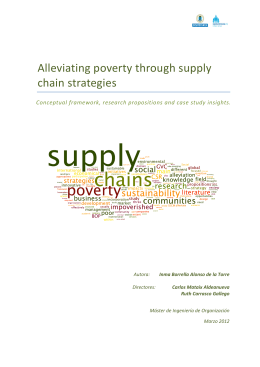 Alleviating*poverty*through*supply* chain&strategies!