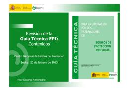 Revisión de la Guía Técnica EPI: Contenidos