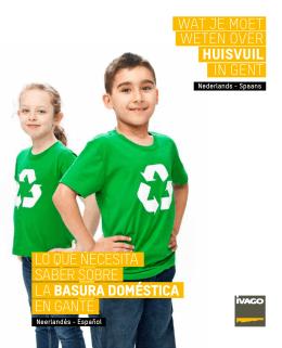 wat je moet weten over huisvuil in Gent, Nederlands - Spaans