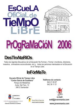 folleto programacion para Jovenmania 2006.cdr