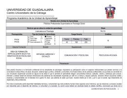 Programa de Asignatura - Centro Universitario de la Ciénega