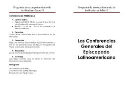 Las Conferencias Generales del Episcopado Latinoamericano