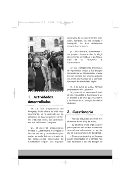 Boletín Nº 1 - Conferencia Episcopal Española