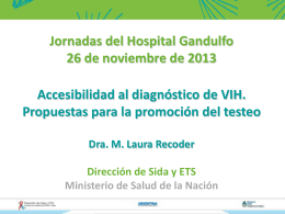 Jornadas del Hospital Gandulfo 26 de noviembre