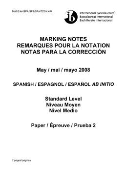 marking notes remarques pour la notation notas para la corrección