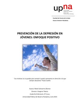 prevención de la depresión en jóvenes: enfoque - Academica-e