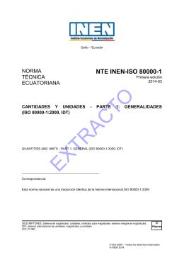 EXTRACTO - Servicio Ecuatoriano de Normalización