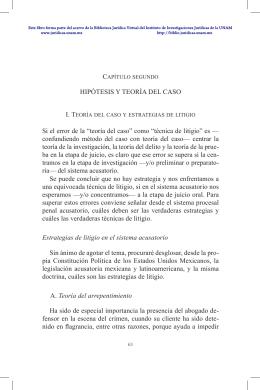 Capítulo segundo - Biblioteca Jurídica Virtual