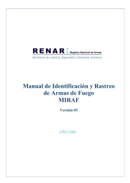 Manual de Identificación y Rastreo de Armas de Fuego MIRAF