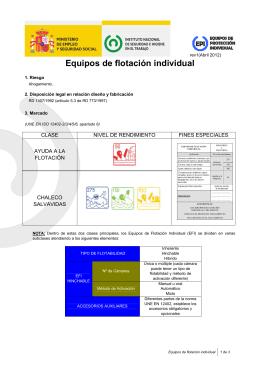 Equipos de flotación individual (pdf, 699 Kbytes)