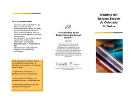 Mandato del Sistema Escolar de Colombia Británica