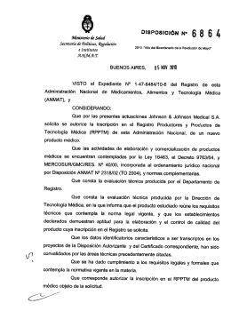 Disposición 6864 - 10