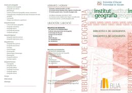 biblioteca de geografia - Biblioteca UA