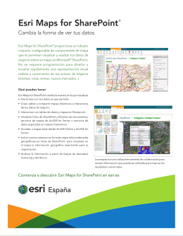 Esri Maps for SharePoint®