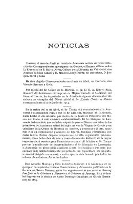Noticias. Boletín de la Real Academia de la Historia. Tomo 76 (mayo