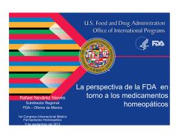 La perspectiva de la FDA en torno a los medicamentos homeopáticos