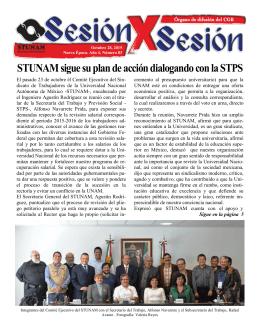 STUNAM sigue su plan de acción dialogando con la STPS
