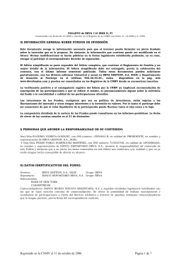 FOLLETO de BBVA 110 IBEX II, FI