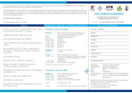 VII CURSO EUROPEO - Medicina e Chirurgia Unimi