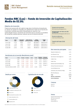 Monthly Investment Review - RBC Global Asset Management