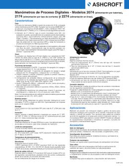 Modelos 2074 (alimentación por baterias)