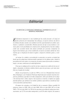 El reto de la patología importada: experiencia en unhospital pediátrico