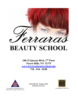 Catalogo de Escuela - Ferrara`s Beauty School