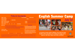 A Summer Camp where children can improve their English while