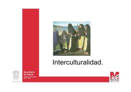 Interculturalidad. - Secretaría de Salud